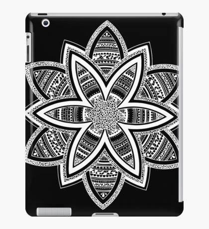 Wholness black and white mandala iPad Case/Skin