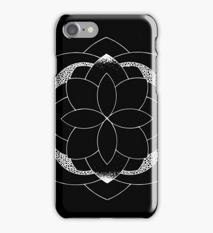 Rediscover black and whitemandala iPhone Case/Skin