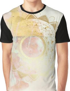 Quiet your mind pink and white hand drawn mandala Graphic T-Shirt