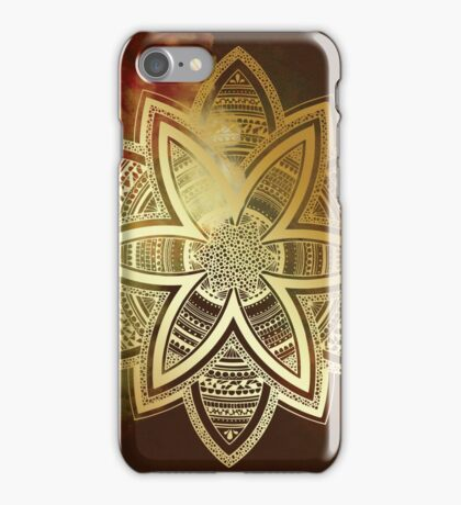 Spiritual vision golden mandala iPhone Case/Skin
