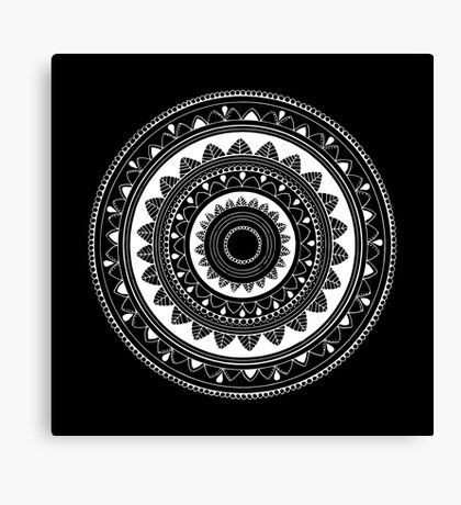 Mind is everything mandala Canvas Print