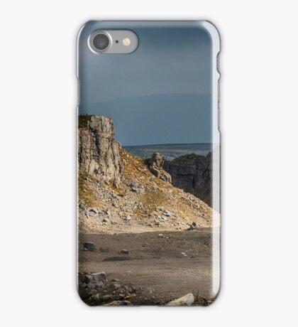Quarry cliffs iPhone Case/Skin