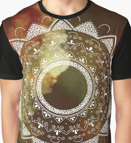 Wonderful white mandala Graphic T-Shirt