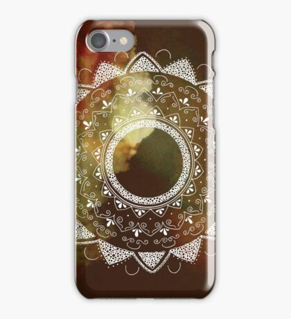 Wonderful white mandala iPhone Case/Skin