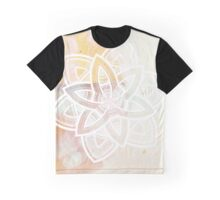 Light and love pink and white hand drawn mandala Graphic T-Shirt