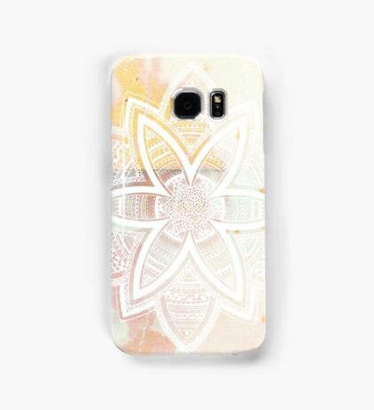 With the universe pink and white hand drawn mandala Samsung Galaxy Case/Skin