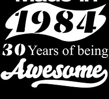 Made in 1984... 30 Years of being Awesome by inkedcreatively
