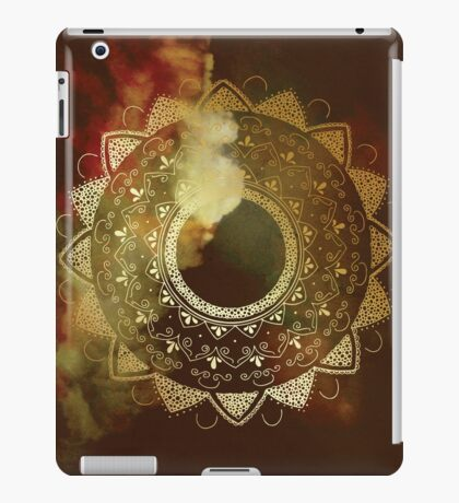 Wothy of all golden mandala iPad Case/Skin