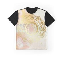 Grounded pink and white hand drawn mandala Graphic T-Shirt