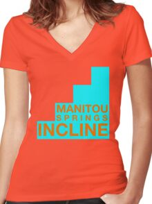 Manitou Springs Incline Official Women's Fitted V-Neck T-Shirt