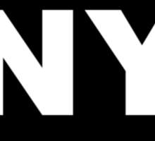 New York NY Euro Oval  Sticker