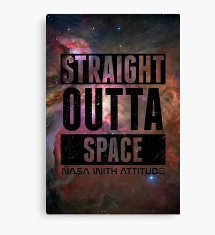 Straight Outta Space 2 Distressed Canvas Print