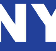 New York NY Euro Oval BLUE Sticker