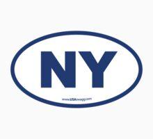 New York NY Euro Oval BLUE by USAswagg2
