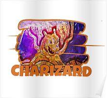 Epic Charizard Streetart Tshirts + More ' Pokemon ' Poster