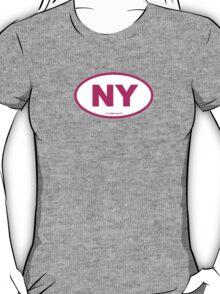 New York NY Euro Oval PINK T-Shirt