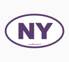 New York NY Euro Oval PURPLE by USAswagg2
