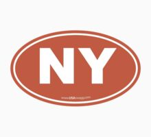 New York NY Euro Oval ORANGE Kids Clothes