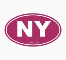 New York NY Euro Oval PINK Kids Clothes