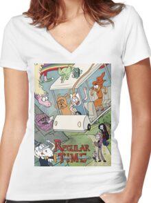 Regular Time Women's Fitted V-Neck T-Shirt