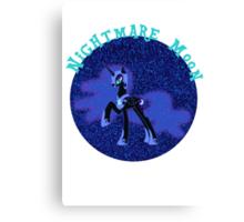 NightmareMoonGlitter Canvas Print