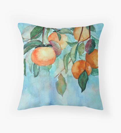 Persimmons garden Throw Pillow