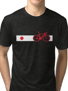 Bike Stripes Japan Tri-blend T-Shirt