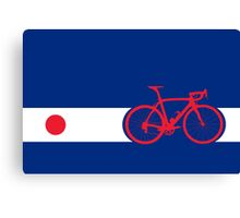 Bike Stripes Japan Canvas Print