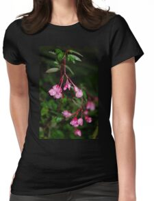 Rain droplets on Begonia Womens Fitted T-Shirt