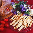 Greek Easter Celebration With Food by daphsam
