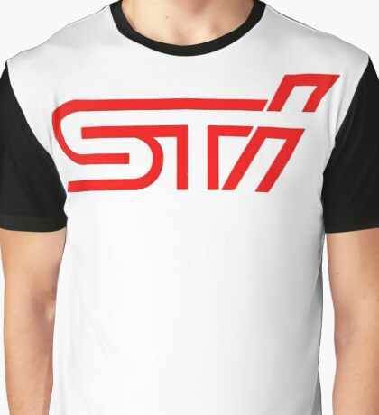 STI Classic Red Poket Graphic T-Shirt