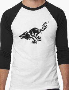 Wolf [Black] Men's Baseball ¾ T-Shirt
