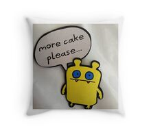 Nandy Wants More Cake Throw Pillow