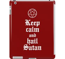 Keep calm and hail Satan V.2 (white) iPad Case/Skin