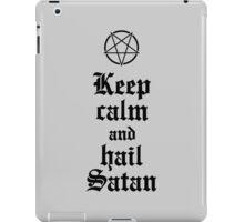 Keep calm and hail Satan V.2 (black) iPad Case/Skin