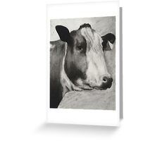 charcoal cow Greeting Card