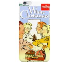 White Christmas Poster iPhone Case/Skin