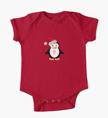 Santa Penguin One Piece - Short Sleeve