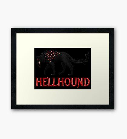 Hellhound Guardian of the Underworld Framed Print