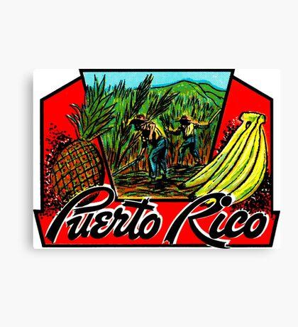 Puerto Rico Vintage Travel Decal Canvas Print
