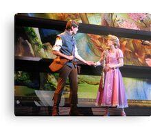Flynn Rider & Rapunzel Metal Print