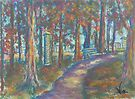 Autumn Path (pastel) by Niki Hilsabeck
