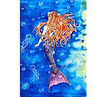 Mermaid in the blue Photographic Print