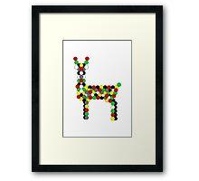 Geometric Deer Framed Print