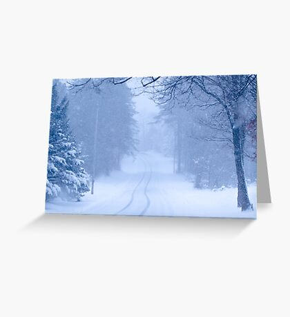 Nostalgic Through The Woods Greeting Card
