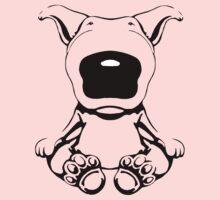 English Bull Terrier Sit Design Kids Tee