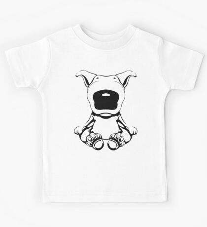English Bull Terrier Sit Design Kids Tee