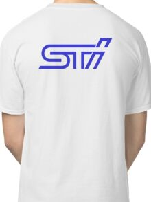 STI Classic Blue Back only Classic T-Shirt