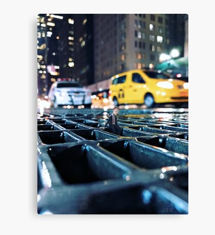 enough - times square Canvas Print