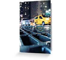 enough - times square Greeting Card